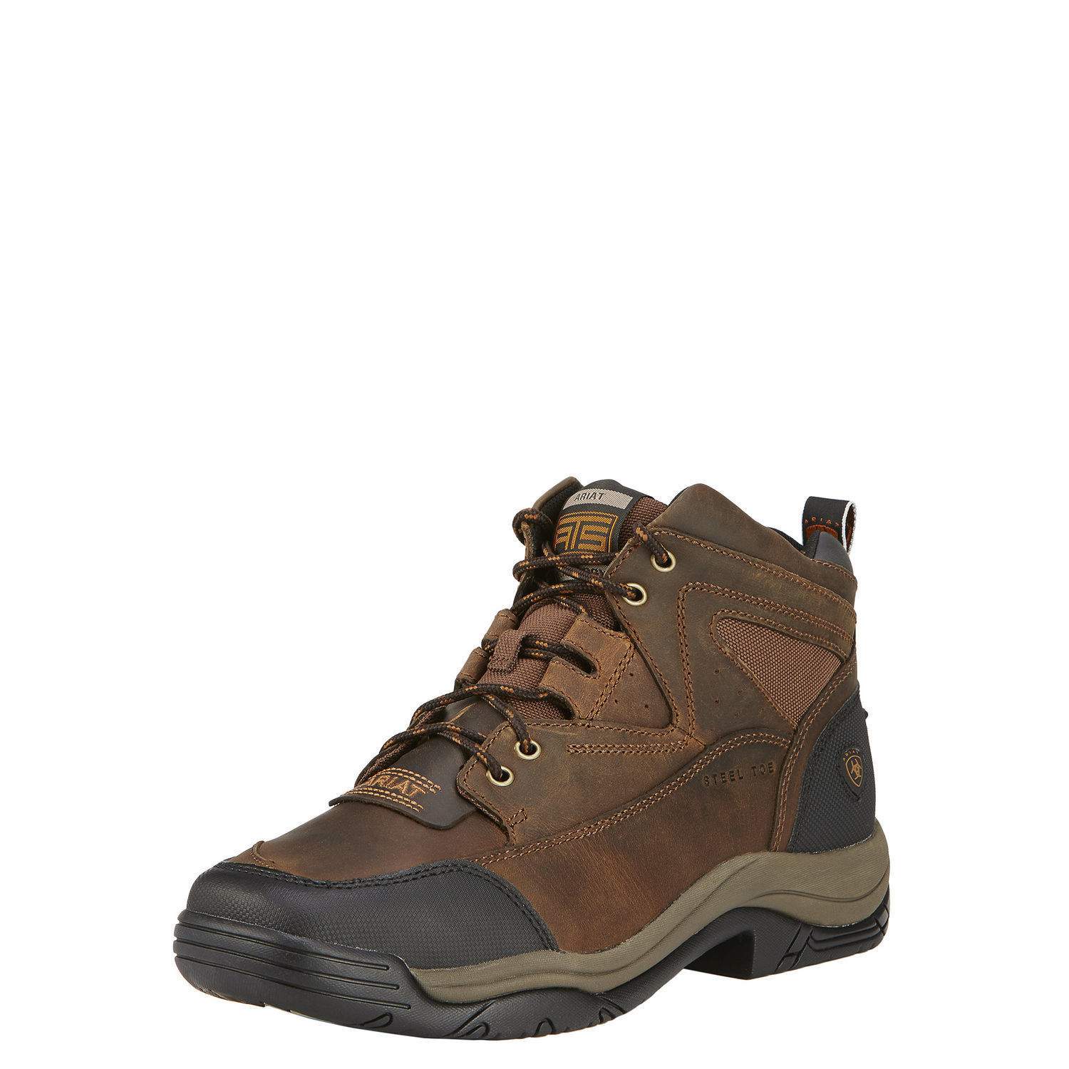 100% original Super discount footwear Details about Ariat 10016379 Terrain Wide Square Steel Safety Toe 5