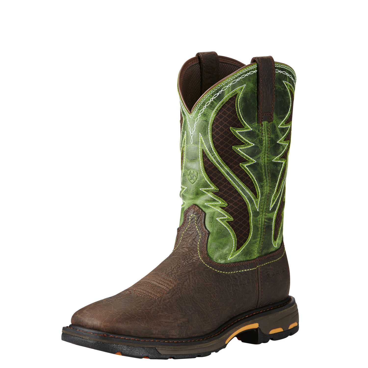 6377d081736 Details about Ariat 10020084 Workhog Venttek Safety Toe Green Non-Slip EH  Rated Work Boots