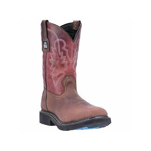 a48ef7c8b6d Details about McRae Industrial MR85105 Red Soft Toe Pull On Non Slip  Western Wellington Boots