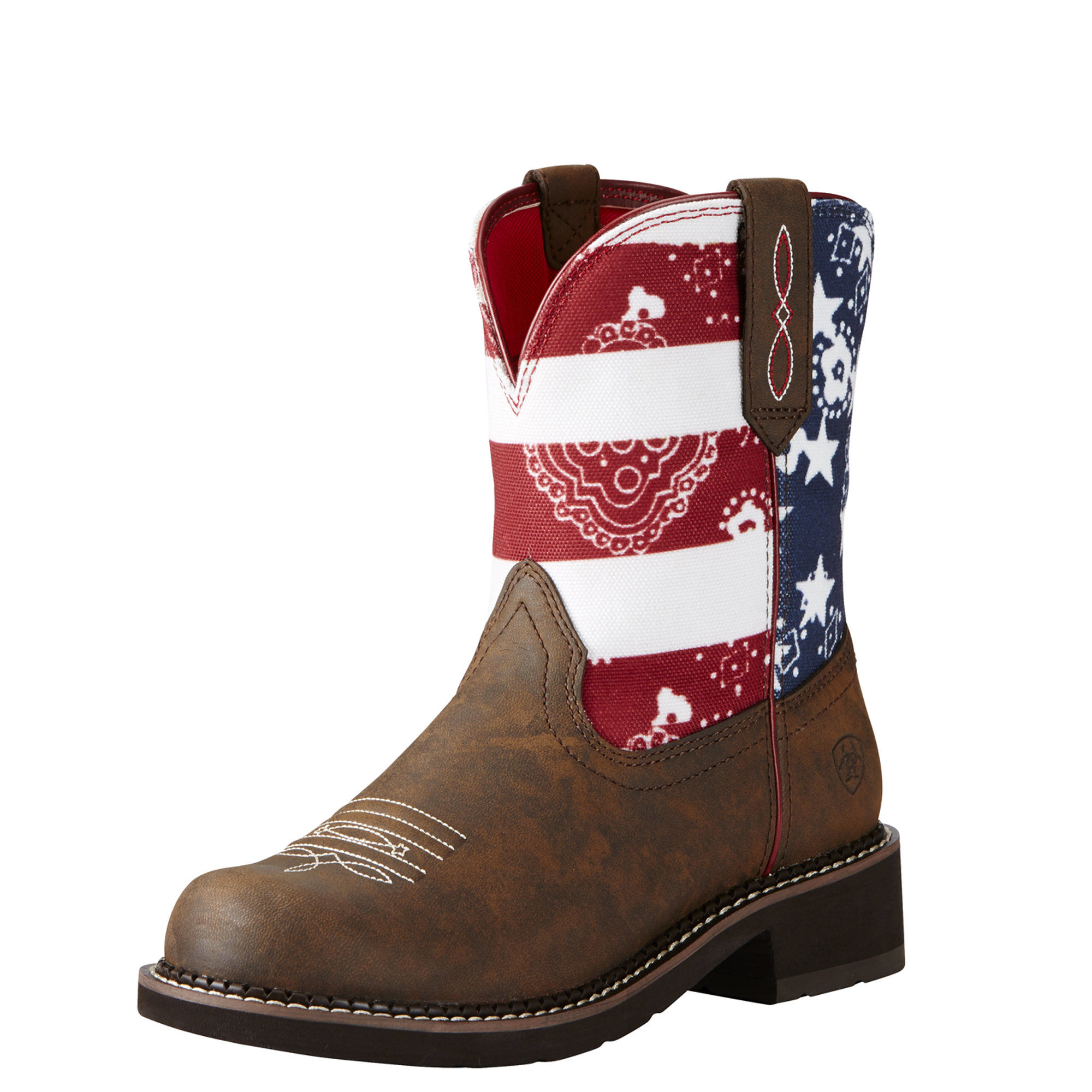 e514ed0149d Details about Ariat 10020076 Fatbaby Heritage Glory Stars & Stripes  American Flag Cowgirl Boot