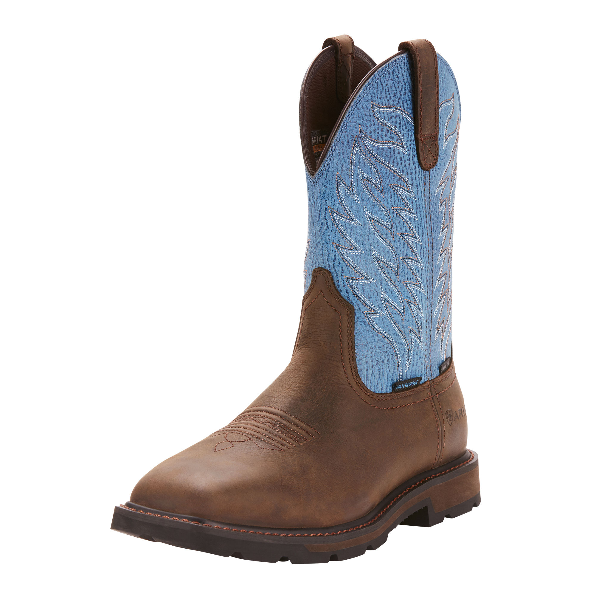 Details about Ariat 10024999 Men Groundbreaker Wide Square Toe H2O Safety  Steel Toe Work Boots