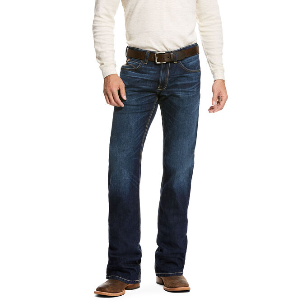 Details about Ariat 10027735 Men's Cash M5 Slim TekStretch Wilton Stackable Straight Leg Jean