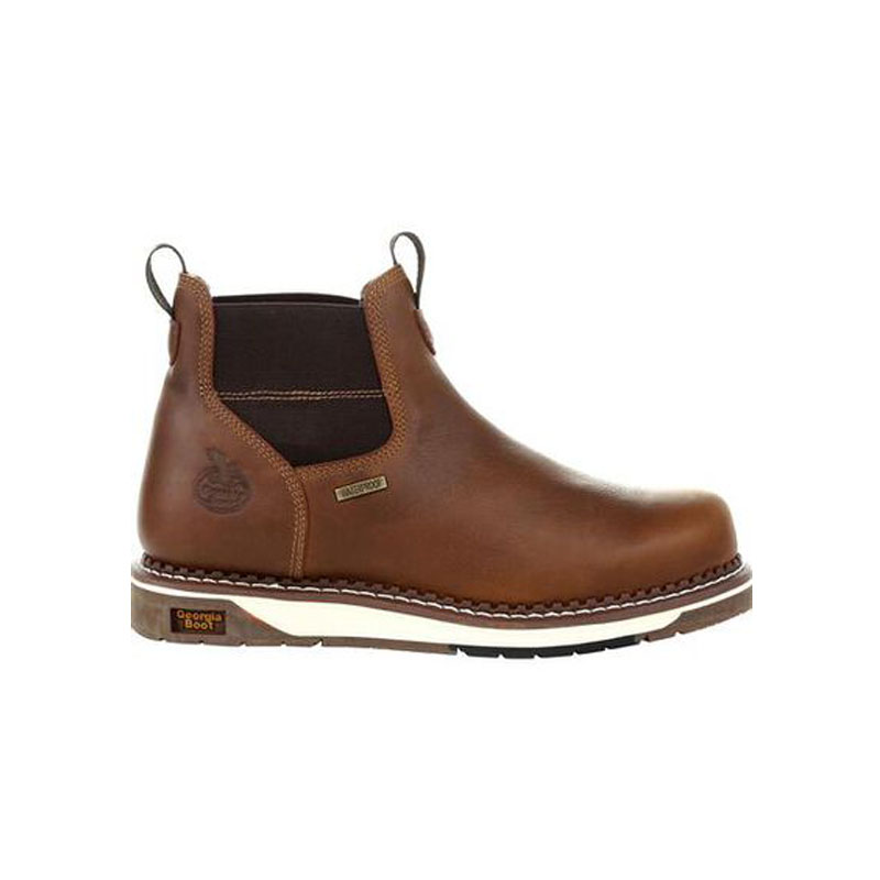 CHELSEA DEALER BOOTS Leather Slip On Steel Toe Safety Work AIR CUSHION Uniform